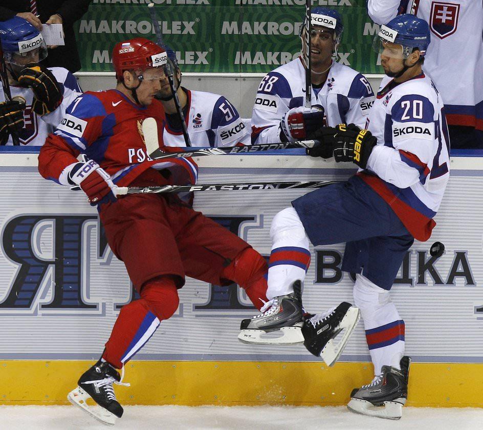 Хоккейный матч Россия-Словакия 3 мая 2011