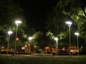Уличное освещение с led-projectru