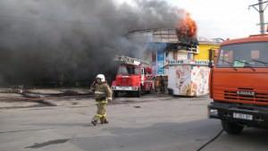 Пожар в Петропавловском торговом комплексе