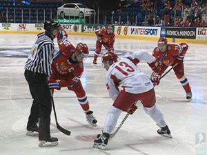 Матч Россия – Дания в рамках чемпионата мира по хоккею 2011