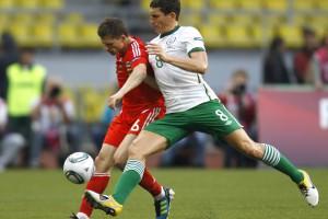 Игра в ничью между командами России и Ирландии