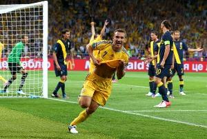 Первая победа украинской сборной на Евро-2012