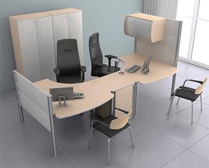 Офисные столы: виды, формы, дизайн и назначение