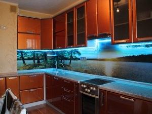 Функциональный стеклянный фартук для кухни - houseglassru