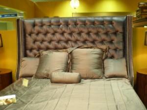 Кровать с мягким изголовьем на мск-мебельрф