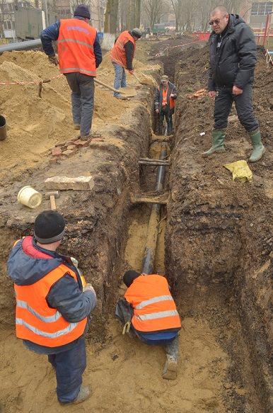 замена труб в поселке Котовское
